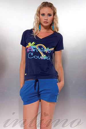 Комплект: футболка и шортики Enrico Coveri, Италия EDC6670B1 фото