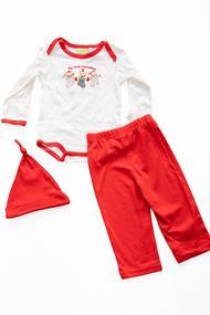 Комплект детский: бодик, штанишки и шапочка , хлопок, код 22990, арт 1602769