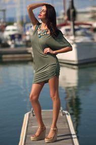 Трикотажное пляжное платье, 24436, код 24436, арт KK71