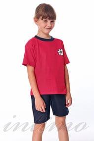 Костюм для девочки: футболка и шорты, хлопок, код 29306, арт 36482