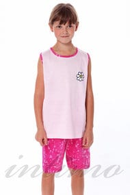 Комплект для девочки: Майка и шорты, хлопок, код 29307, арт 36486