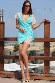 Пляжний халат, бавовна, код 47279, арт 400106-Р