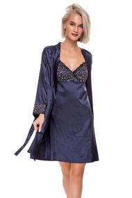 Халат і сорочка, шовк, код 53953, арт F50010-2