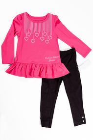 Костюм для девочки: Кофточка с длинным рукавом и леггинсы, хлопок, код 55473, арт 3410216