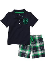 Костюм для мальчика: футболка поло и шортики, хлопок, код 55817, арт 123