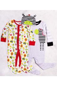 Детский комплект: Человечек, 2 шт. и шапочка, хлопок, код 55985, арт 341