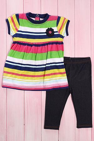 Костюмчик для девочки: туника и штанишки , хлопок Carter's, США 184 фото
