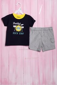 Летний костюм для мальчика: футболка и шортики, хлопок, код 56280, арт 207