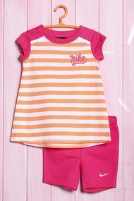 Костюм для девочки: футболка и велосипедки, хлопок, код 56386, арт 18702