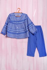 Костюм для девочки: кофточка с длинным рукавом и штанишки, хлопок, код 56400, арт 625