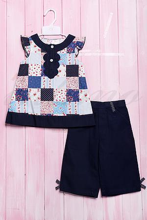 Летний костюм для девочки: маечка и штанишки, хлопок Orm & Emmy 501 фото