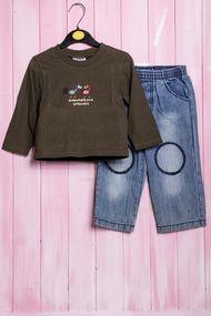 Костюмчик для мальчика: джемпер и штанишки, хлопок, код 56418, арт 20369