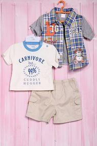 Комплект для мальчика: футболка, шортики и тенниска, хлопок, код 56467, арт 20404