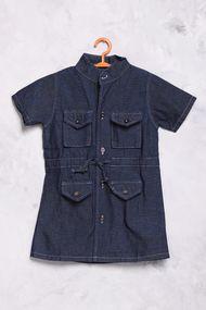 Детское платье с воротником-стоечкой, хлопок, код 56706, арт 10412