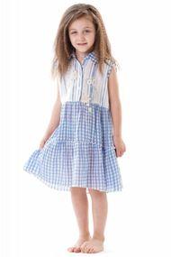 Летний сарафан для девочки, хлопок, код 57056, арт IC9-145
