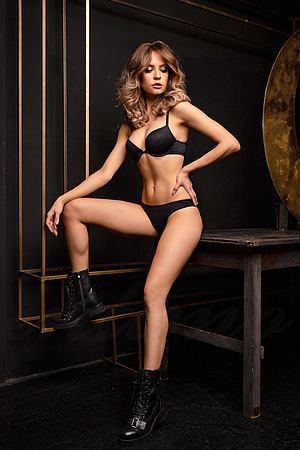 Комплект белья: бюстгальтер push up gel и трусики бразилиана Jolidon, Румыния S2093-D2113 фото