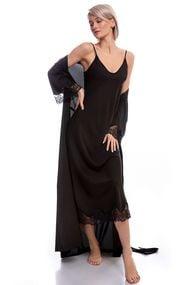 Халат и сорочка, шёлк, код 61330, арт GV-00061