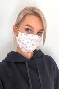Захисна бавовняна двошарова маска з кишенею для додаткової фільтрації, код 62169, арт М22-3