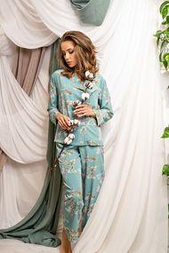 Комплект: блуза та брюки, код 63395, арт Sil-027