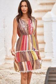 Шифоновое пляжное платье, 63958, код 63958, арт IC21-054