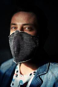 Защитная хлопковая двухслойная маска, код 69060, арт JB 007