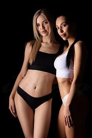 Трусики стринг, 2 штуки Mememe, Украина Black and White-string фото
