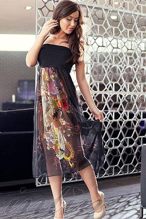 Пляжне плаття-спідниця, шовк Sweetheart, Україна S12_012 фото