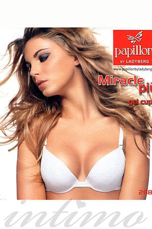 Комплект білизни: бюстгальтер push-up gel і трусики бразиліана Papillon, Італія PA8683_3639 фото