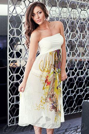 Пляжне плаття-спідниця з шовку Sweetheart, Україна S12_1111 фото