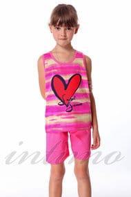 Костюм для девочки: майка и шорты, хлопок, код 29305, арт 36471-C