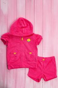Детский костюм: Шортики и кофточка с коротким рукавом на молнии, хлопок, код 55864, арт 146