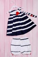 Комплект летний для девочки: платье, шортики и повязка, хлопок Wandees 56145 - фото №2