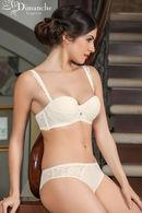 Комплект белья: бюстгальтер балконет push up и трусики слип Dimanche Lingerie 61077 - фото №5