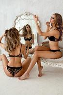Комплект белья: бюстгальтер с уплотнённой чашкой и трусики бразилиана Rosa Selvatica 61182 - фото №2