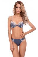 Комплект белья: бюстгальтер push up gel и трусики бразилиана Dimanche Lingerie 61342 - фото №3