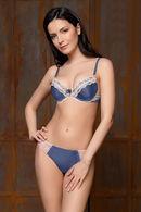 Комплект белья: бюстгальтер push up gel и трусики бразилиана Rosa Selvatica 61467 - фото №3