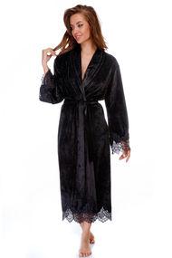 Женские черные халаты, 63409, код 63409, арт Sil-024