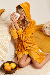 Жовті жіночі халати, 63748, код 63748, арт 8144-6761