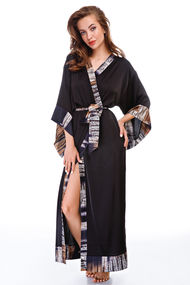 Женские черные халаты, 64115, код 64115, арт Sil-038