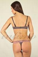Комплект: бюстгальтер push up і трусики стрінг Rose & Petal 16610 - фото №3